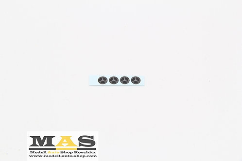 Mercedes Embleme Decals Felgen 1/18