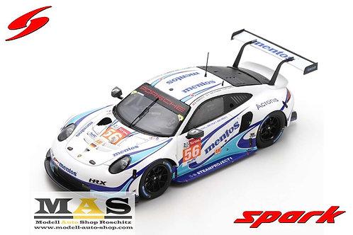 Porsche 911 RSR Team Project 1 #56 24h LeMans 2020 Spark 1/43