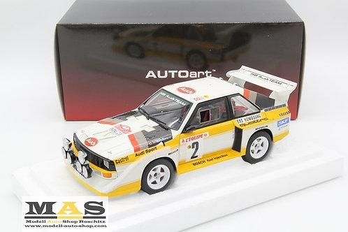 Audi Quattro S1 Rallye Monte Carlo 1986 Röhrl, Geistdörfer Autoart 1/18