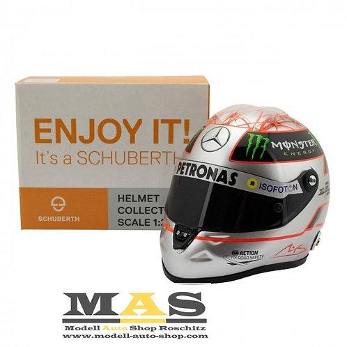 Michael SchumacherPlatin Helm 2012 300th GP Spa Mercedes Schuberth 1/2