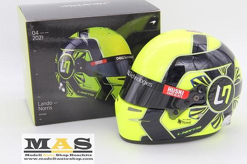 Lando Norris 2021 Helmet McLaren F1 Team Bell 1/2