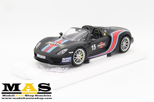 Porsche 918 Spyder 2013 Martini - Weissach Package matt schwarz Minichamps 1/18