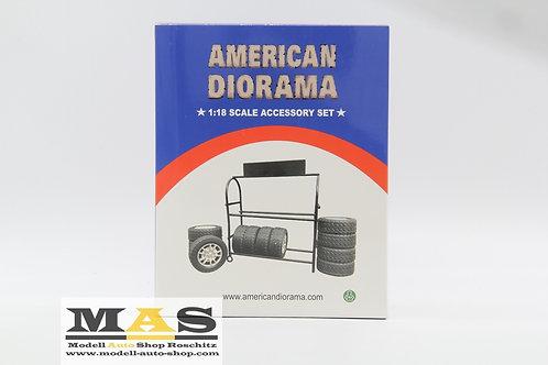 Metal tire frame incl. American Diorama 1/18 tire