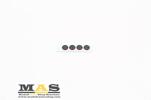 Audi emblems, decals, rims 1/18