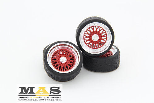 BBS RS 16 Zoll rot SD Felgen 1/18