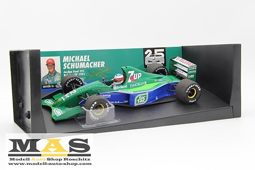 Jordan 191 M. Schumacher Belgian GP 1991 Minichamps 1/18