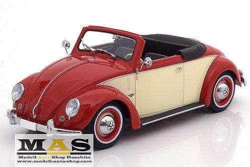 Volkswagen VW Käfer 1200 Hebmüller Cabrio rot beige KK-Scale 1/18