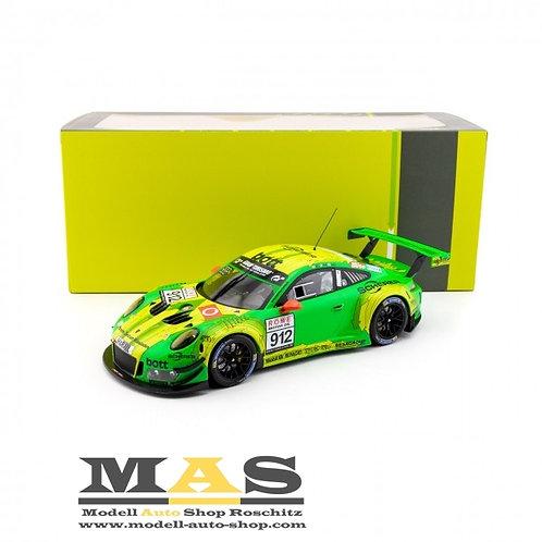 Porsche 911 GT3 R Manthey Racing 7. Platz VLN Nürburgring 2018 IXO 1/18