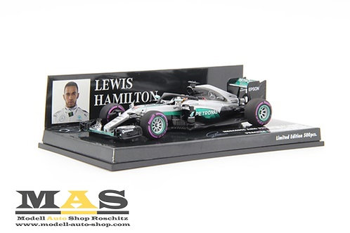 Mercedes AMG W07 L. Hamilton Halo Test Singapore GP 2016 Minichamps 1/43