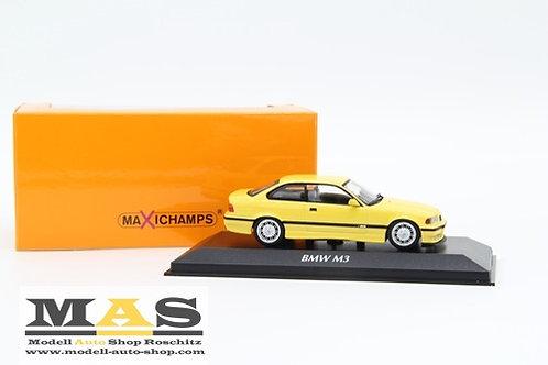 BMW M3 E36 Coupe 1992 gelb Minichamps 1/43