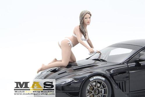 Car Wash Girl Jenny Figure Woman American Diorama 1/18