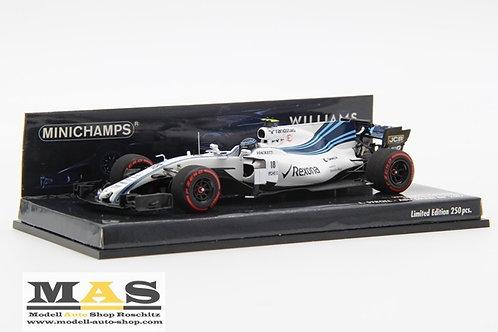 Williams FW40 L. Stroll Abu Dhabi GP 2017 Minichamps 1/43