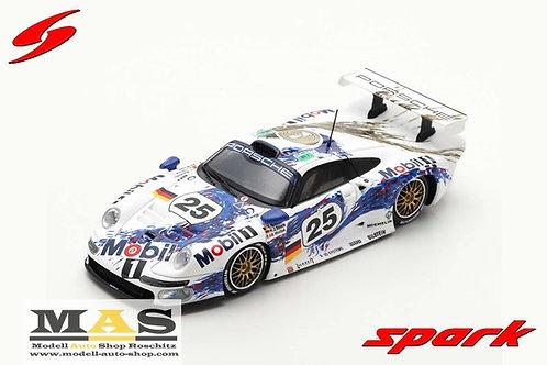 Porsche 911 GT1 2nd 24h LeMans 1996 Stuck Boutsen Wollek Spark 1/43