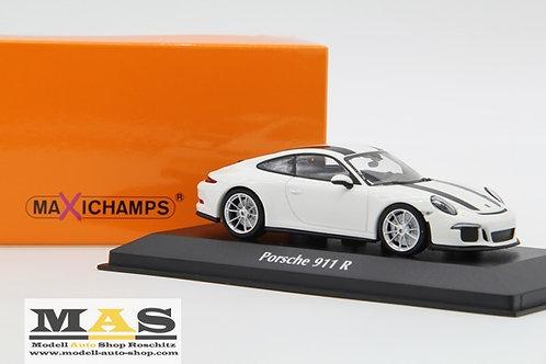 Porsche 911 R 2016 weiss Minichamps 1/43