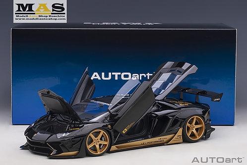 Lamborghini Aventador Liberty Walk LB-Works schwarz gold Autoart 1/18