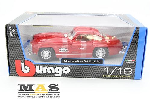 Mercedes Benz 300 SL W198 1954 rot Bburago 1/18