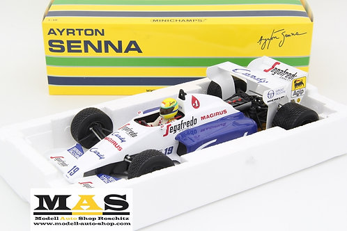 Toleman Hart TG184 A. Senna 2nd Monaco GP 1984 Minichamps 1/18