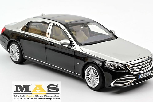 Mercedes Benz Maybach S650 2018 black metallic - silver Norev 1/18
