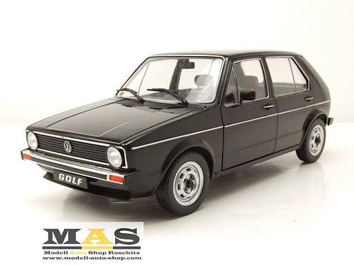 Volkswagen VW Golf 1 L black 1983 Solido 1/18