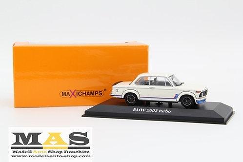 BMW 2002 Turbo 1973 weiß Minichamps 1/43