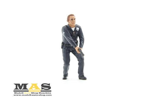 Personaggio della polizia Police Officer 3 man American Diorama 1/18