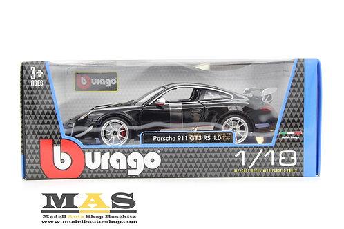 Porsche 911 GT3 RS 4.0 schwarz Bburago 1/18