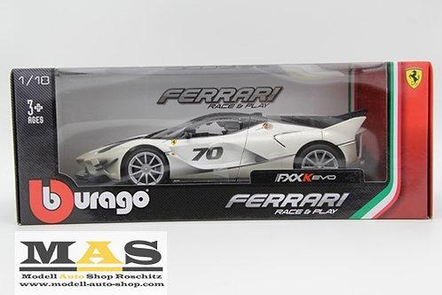 Ferrari FXX-K Evo No. 70 white / gray Bburago 1/18