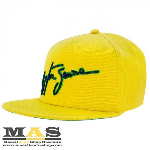 Ayrton Senna Cap Kappe Brasil Flat Brim