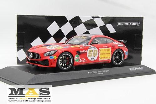 Mercedes Benz AMG GT-R 2017 Rote Sau Minichamps 1/18