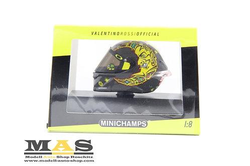 Valentino Rossi AGV Helm Moto GP 2018 Winter Test Sepang Minichamps 1/8