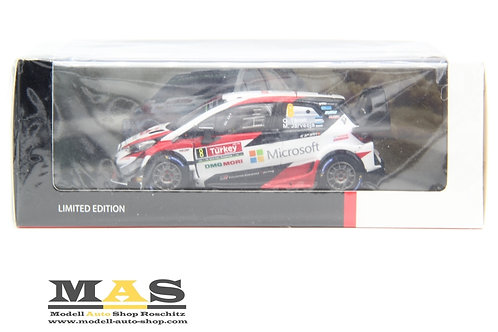 Toyota Yaris WRC Gazzoo Racing Rallye Türkei 2018 Tänak Järveoja Spark 1/43