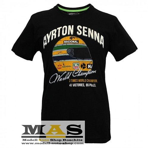 Ayrton Senna T-Shirt Vintage World Champion