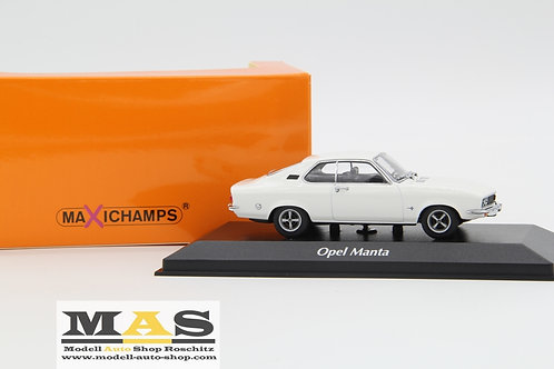 Opel Manta A 1970 white Minichamps 1/43