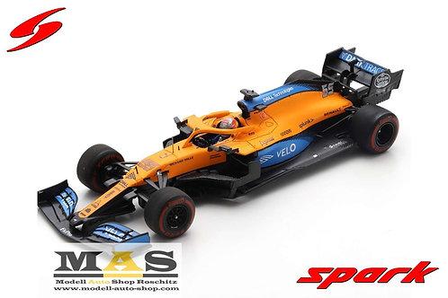 Mclaren MCL35 C. Sainz Test Barcelona 2020 Spark 1/43
