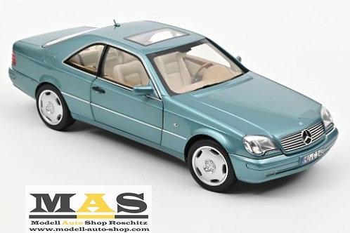 Mercedes Benz CL600 Coupe 1997 blau Norev 1/18