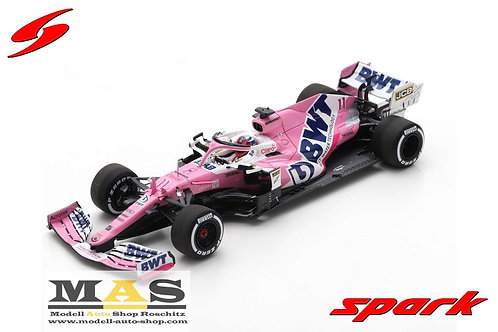 BWT Racing Point RP20 S. Perez winner Sakhir GP 2020 + Pit Board Spark 1/43