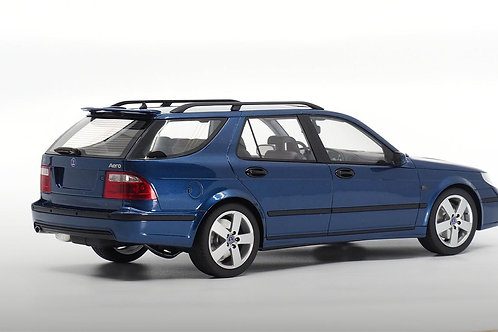 Saab 9-5 Sportcombi Aero blau DNA Collectibles 1/18