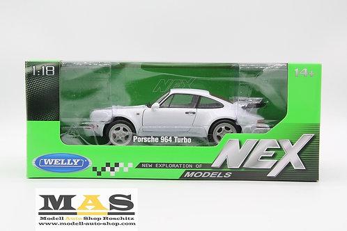 Porsche 911 Turbo (964) weiss Welly 1/18