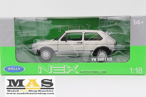 Volkswagen Golf 1 GTI weiss Welly 1/18