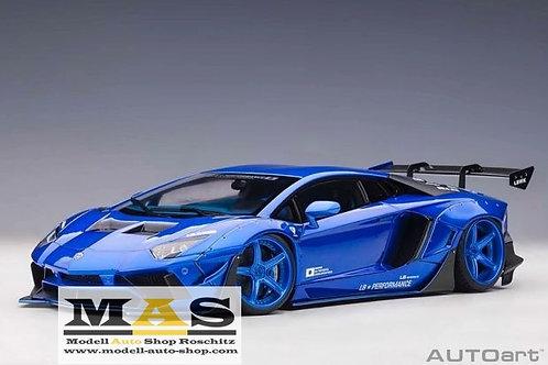 Lamborghini Aventador Liberty Walk LB-Works blau Autoart 1/18