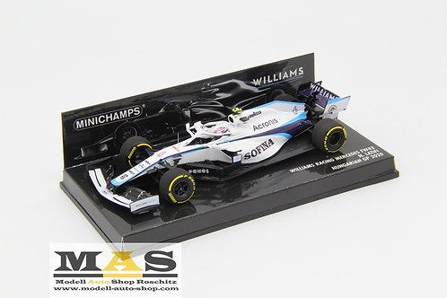 Williams FW43 N. Latifi Hungary GP 2020 Minichamps 1/43
