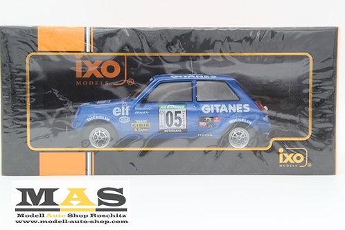 Renault 5 Alpine Gitanes No 5 Rallye Bandama 1978 Frequelin, Delaval IXO  1/18