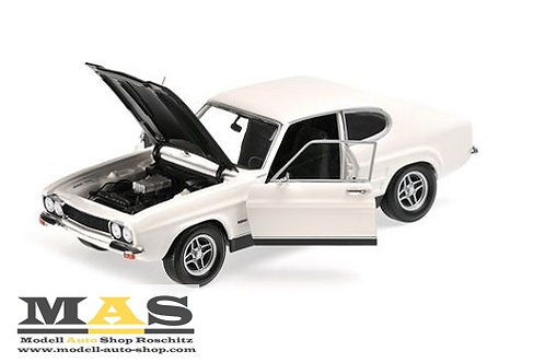 Ford Capri RS 2600 1970 Weiß Schwarz Minichamps 1/18