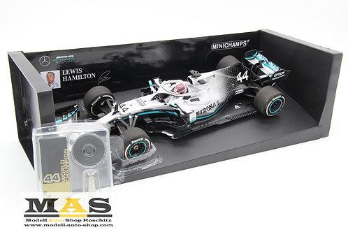Mercedes AMG W10 L. Hamilton USA GP 2019 World Champion Minichamps 1/18