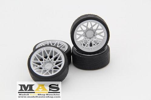 Rotiform Concave Lambo Style 18 inch silver SD rims 1/18