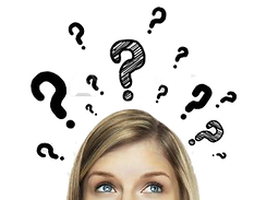 16883291-thinking-women-with-question-ma