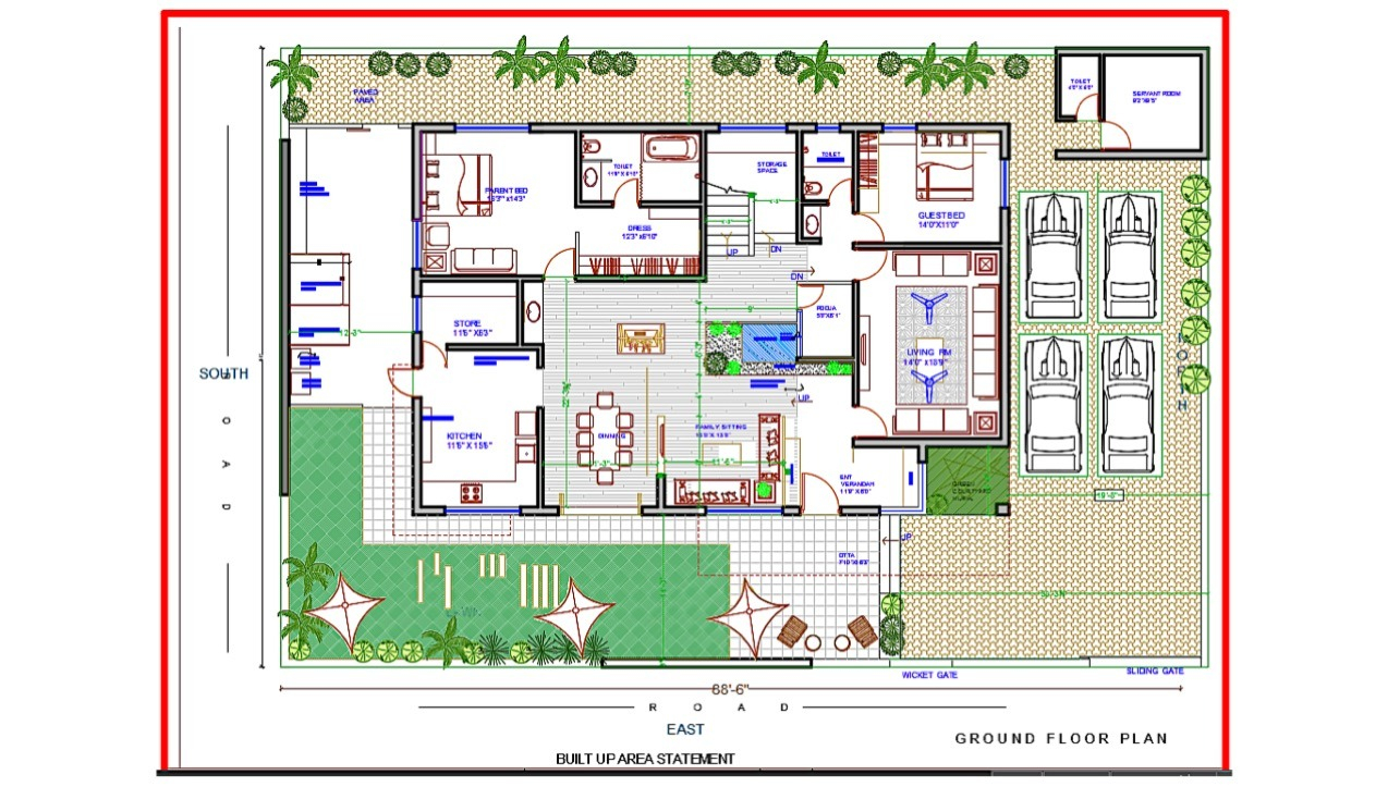 Architectural Drafting - Bungalow