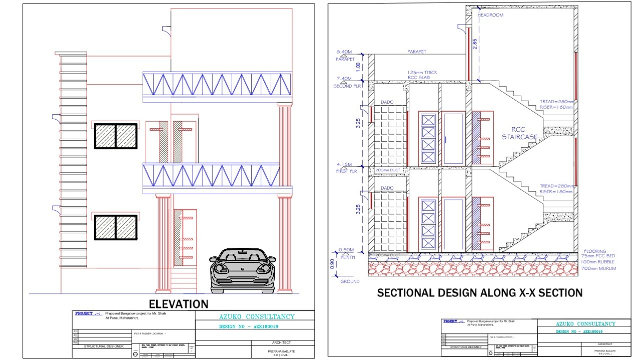 Architectural Drafting- Elevation