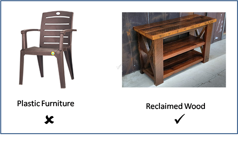 Plastic Furniture v/s Eco-friendly furniture