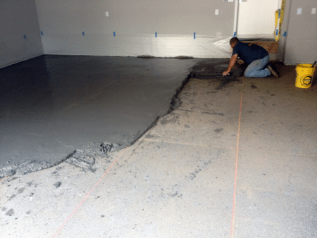Layering of topping concrete